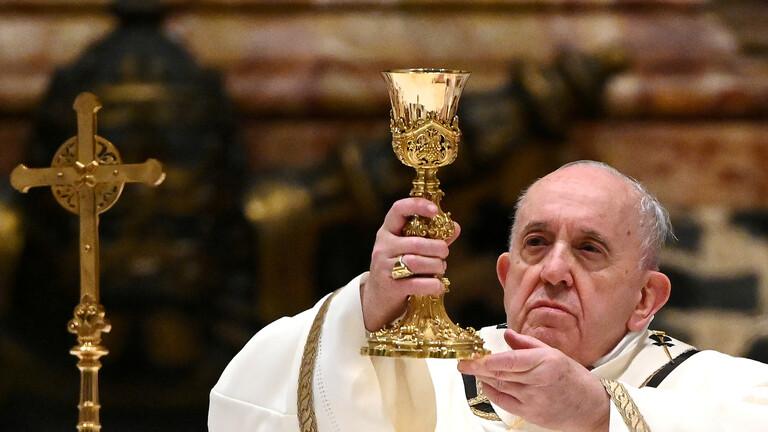 بابا الفاتيكان يدعو لايجاد حلول سريعة للسلام في اليمن ويوجه تحية لاطفال النمسا والمانيا