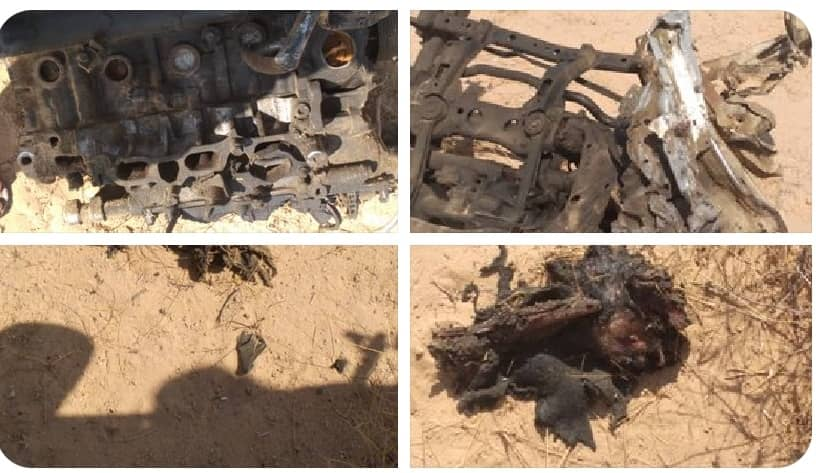 صور وتفاصيل انفجار مفخخة استهدف موكبا للتحالف شرقي اليمن