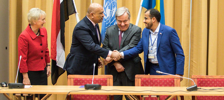 الأمين العام للامم المتحدة يوجه دعوة وفاء للاطراف اليمنية بمناسبة الذكرى السنوية الثانية لاتفاق ستوكهولم