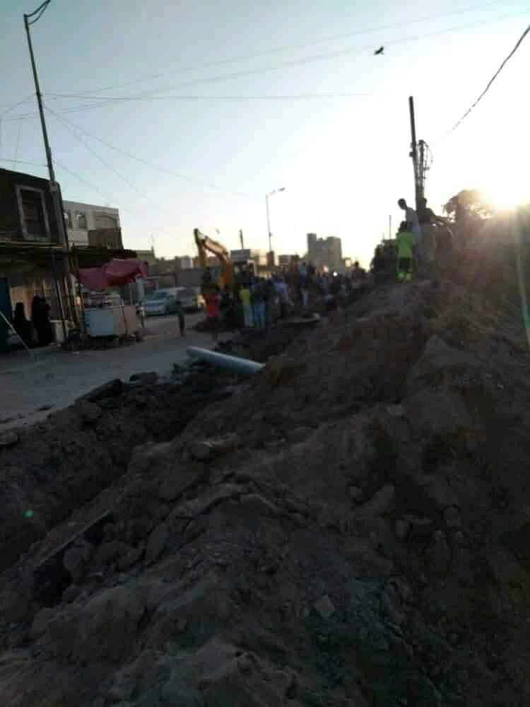 مؤسسة المياه بعدن توضح حول فاجعة وفاة وإصابة 5 من عمالها بحفريات صرف صحي
