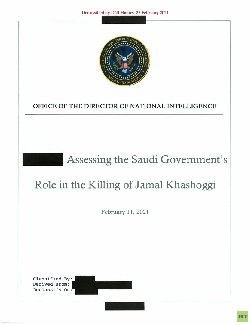 أبرز ماجاء في تقرير المخابرات الامريكية حول مقتل الصحفي السعودي خاشقجي