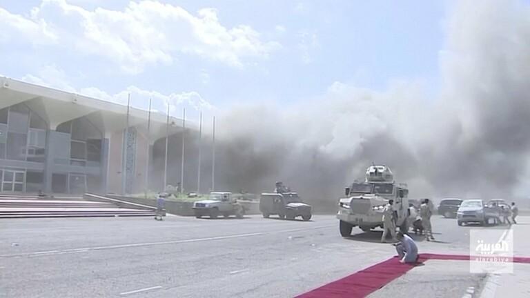 الصليب الأحمر يعلن مقتل احد موظفيه واصابة 3 وفقدان 2 بحادثة انفجارات مطار عدن